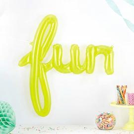 Ballon mylar fun vert tendre