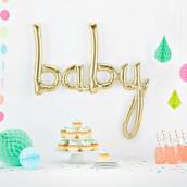 Ballon mylar baby or blanc