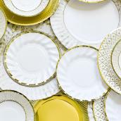 Petites assiettes jolie table gold
