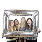 Cadre photobooth argent mylar