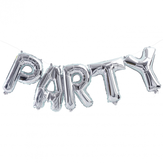 Guirlande ballons mylar argent Party