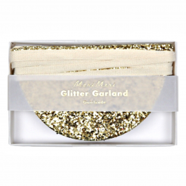 Guirlande feston paillettes or