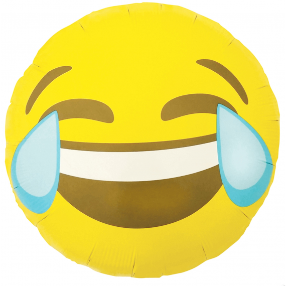 Ballon mylar emoji larmes de rire