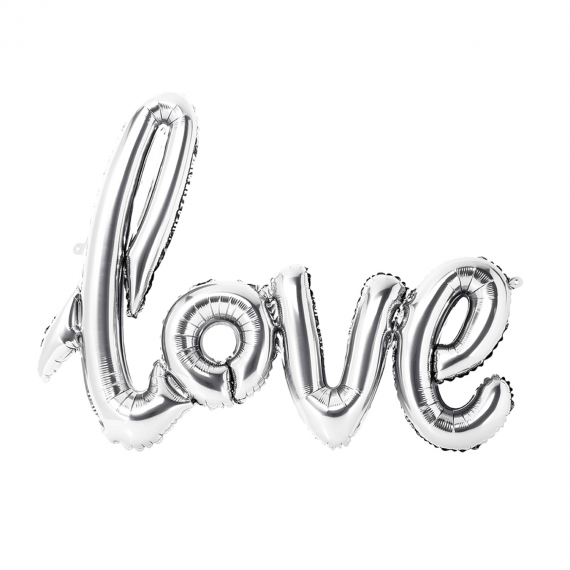 Ballon mylar Love argent