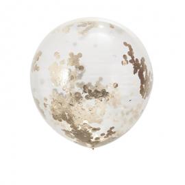 Sublimes et festifs découvrez les Ballons géants confettis rose gold