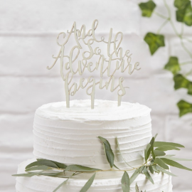 Beautiful Botanics - Cake Topper - Wooden