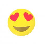 Ballon mylar emoji yeux coeurs