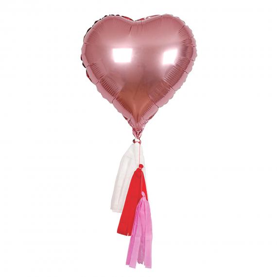 Ballons coeurs mylar rose