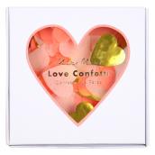 Boite confettis mix roses et or