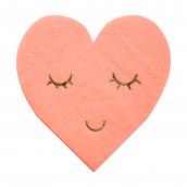 Petites serviettes coeur smile