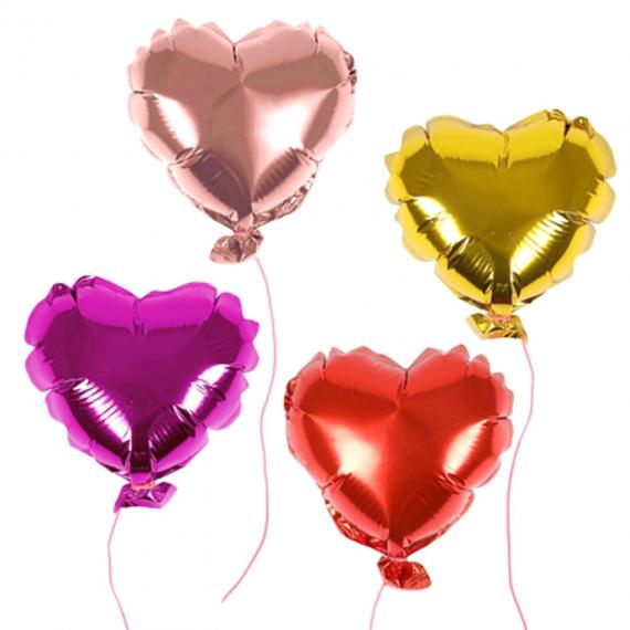 Mini ballons forme coeur