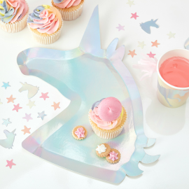 Make A Wish - Plate - Unicorn Shaped