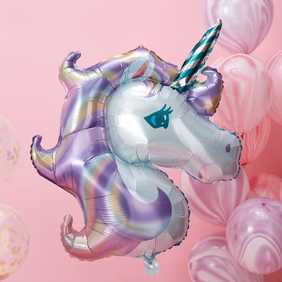 Make A Wish - Balloon - Foil - Unicorn