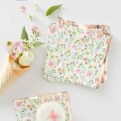 Petites serviettes papier or rose liberty
