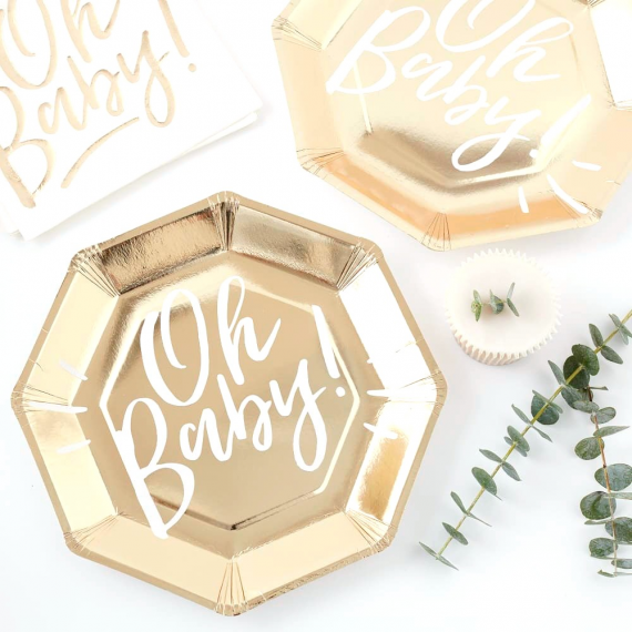 Oh Baby! - Plate - Gold