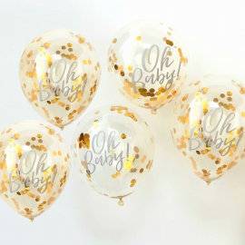 Ballons confettis or oh baby
