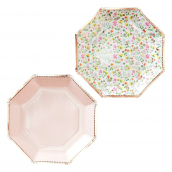 Assiettes or rose liberty