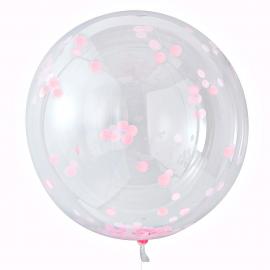 Ballons géants confettis rose