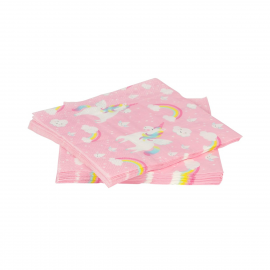 Serviettes papier sweet licorne