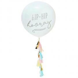 Ballon géant guirlande hip hip hooray
