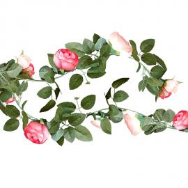 Guirlande fleurs roses