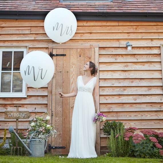Ballons géants Mr & Mrs