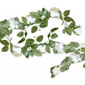 Guirlande fleurs blanches