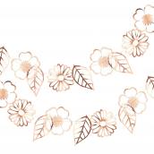 Guirlande de fleurs or rose