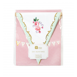 Guirlande de fanions fleurs chintz