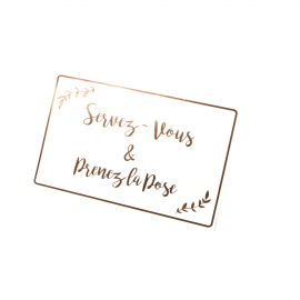 Panneau photobooth servez vous or rose