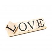 Lettres bois love sur chevalet