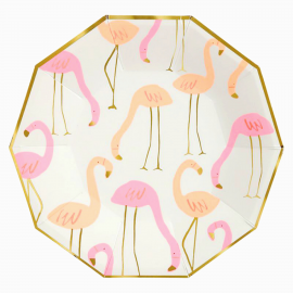 Assiettes flamant rose chic