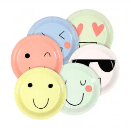 Assiettes gâteaux emoji