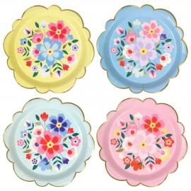 Grandes assiettes fleurs kaskmiri