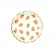 Assiettes gâteaux fraises