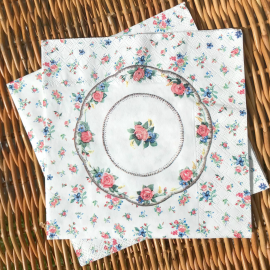 Serviettes papier tea time chic