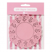 Mini napperons assortis rose