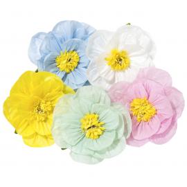 Fleurs papier pastel