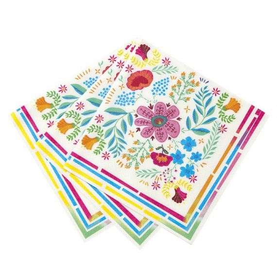 Serviettes papier boho colors