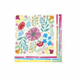Serviettes papier boho colors