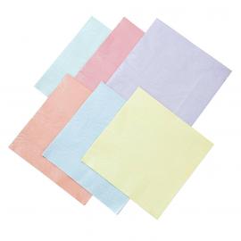 Serviettes multi pastel nacré