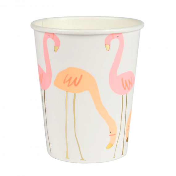 Gobelets flamant rose chic