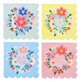 Grandes serviettes fleurs kaskmiri