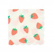 Petites serviettes fraises