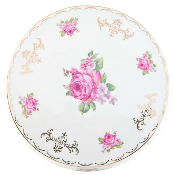 Cakestand céramique fleurs vintage