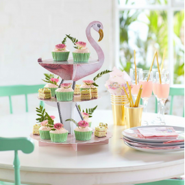 Cakestand flamant romantique