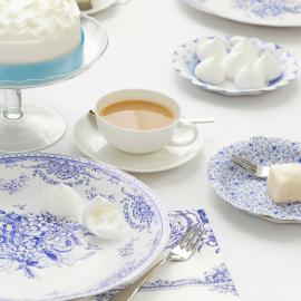 Grandes assiettes blue romance