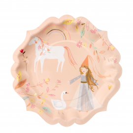 Assiettes licorne princesse GM