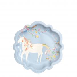 Assiettes gâteau licorne et princesse