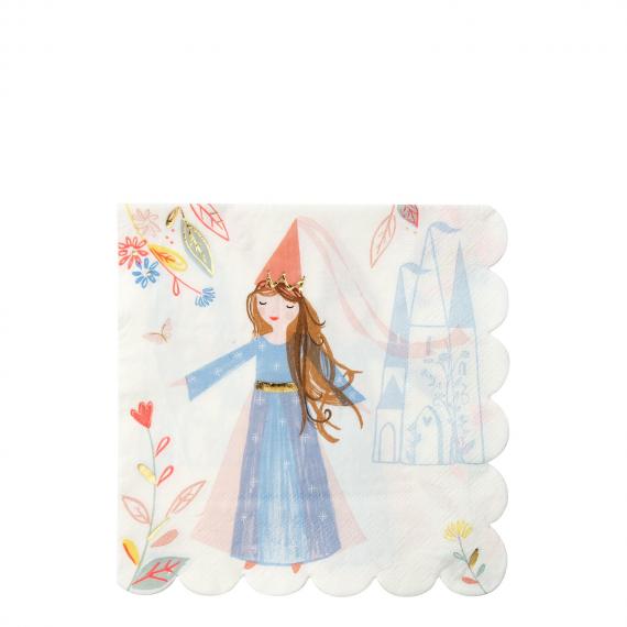 Serviettes papier licorne et princesse
